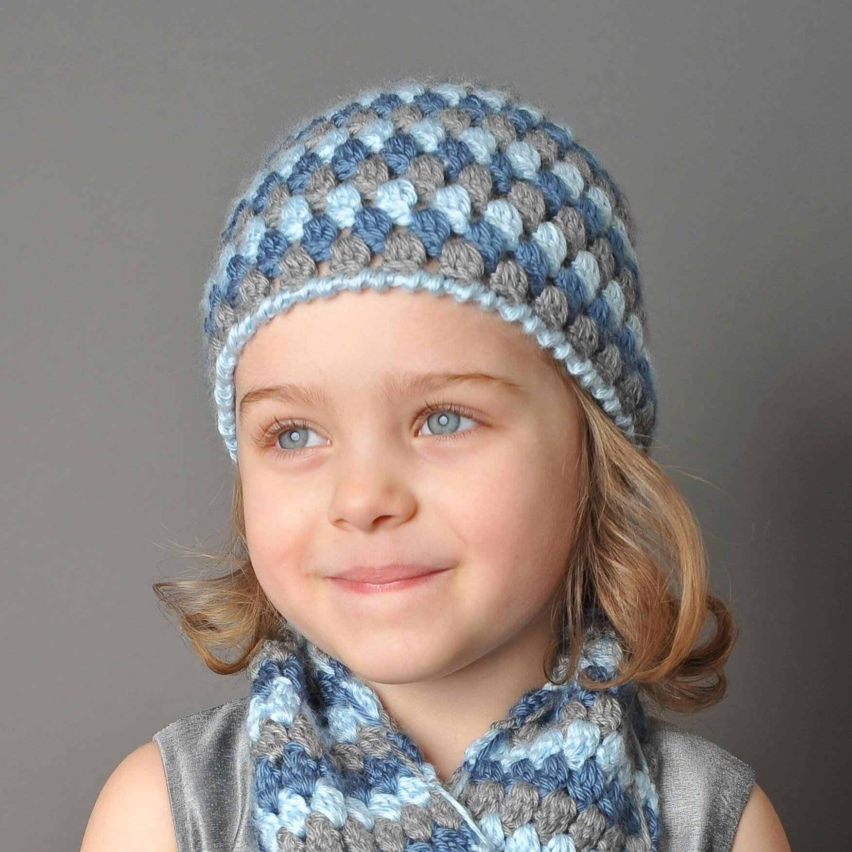 Mod Hat and Scarf Crochet Set