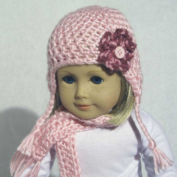 Inspirational More Darling Doll Hats Scarf Pattern Pdf Fits 18 Inch Dolls Hat and Scarf Crochet Pattern Of Lovely 41 Pictures Hat and Scarf Crochet Pattern