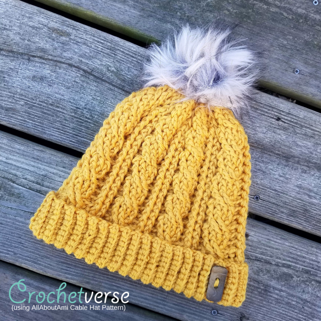 Inspirational My Allaboutami Cabled Hat Crochetverse Cable Hat Pattern Of New 40 Models Cable Hat Pattern