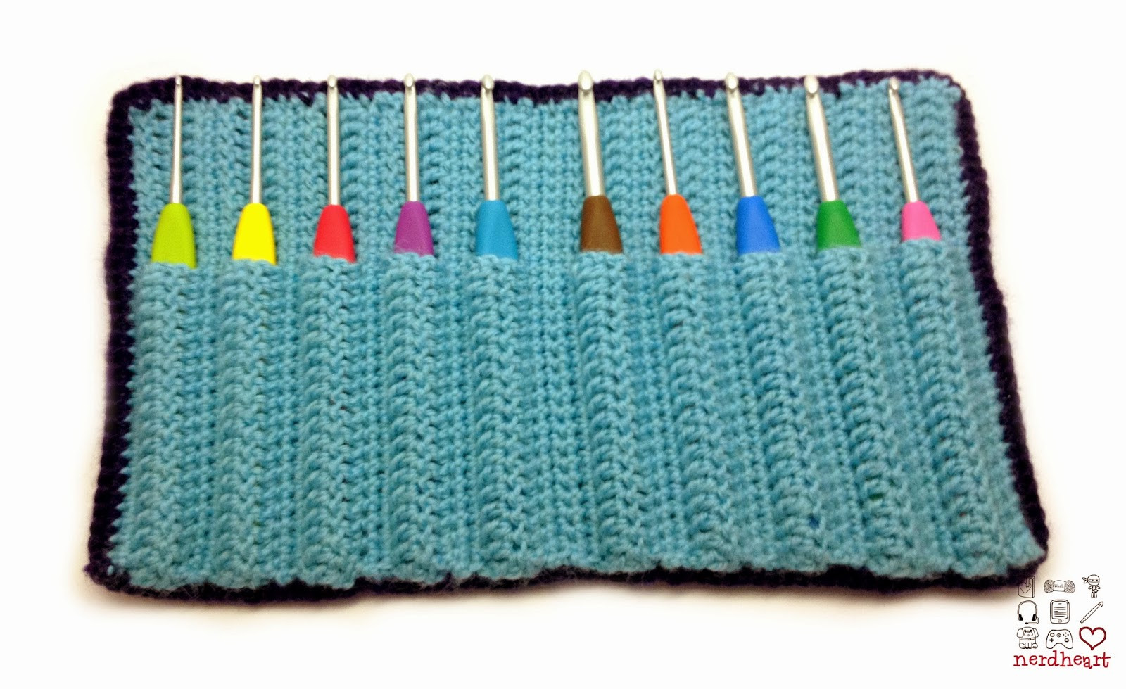 Inspirational Nerdheart Crocheted Crochet Hook Case Crochet Hook Sets with Case Of Amazing 49 Images Crochet Hook Sets with Case