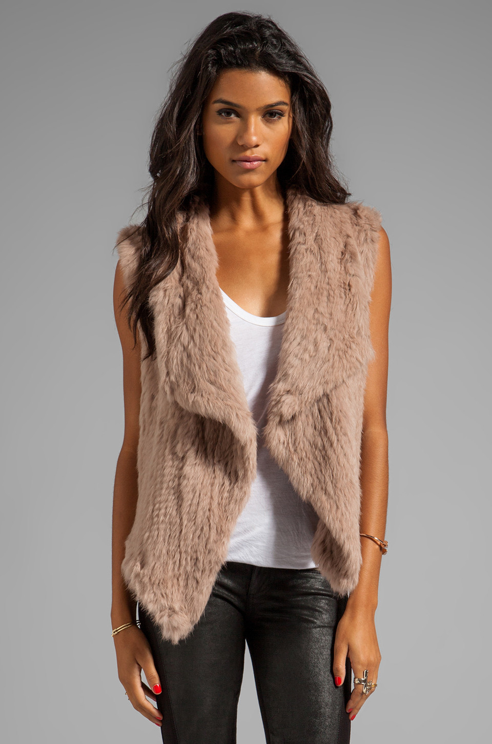 Inspirational Nicholas Knitted Rabbit Fur Vest In Natural Knitted Vest Of Great 48 Pics Knitted Vest
