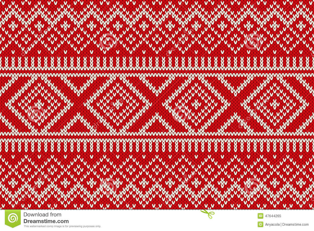 Nordic Traditional Fair Isle Style Seamless Knitted