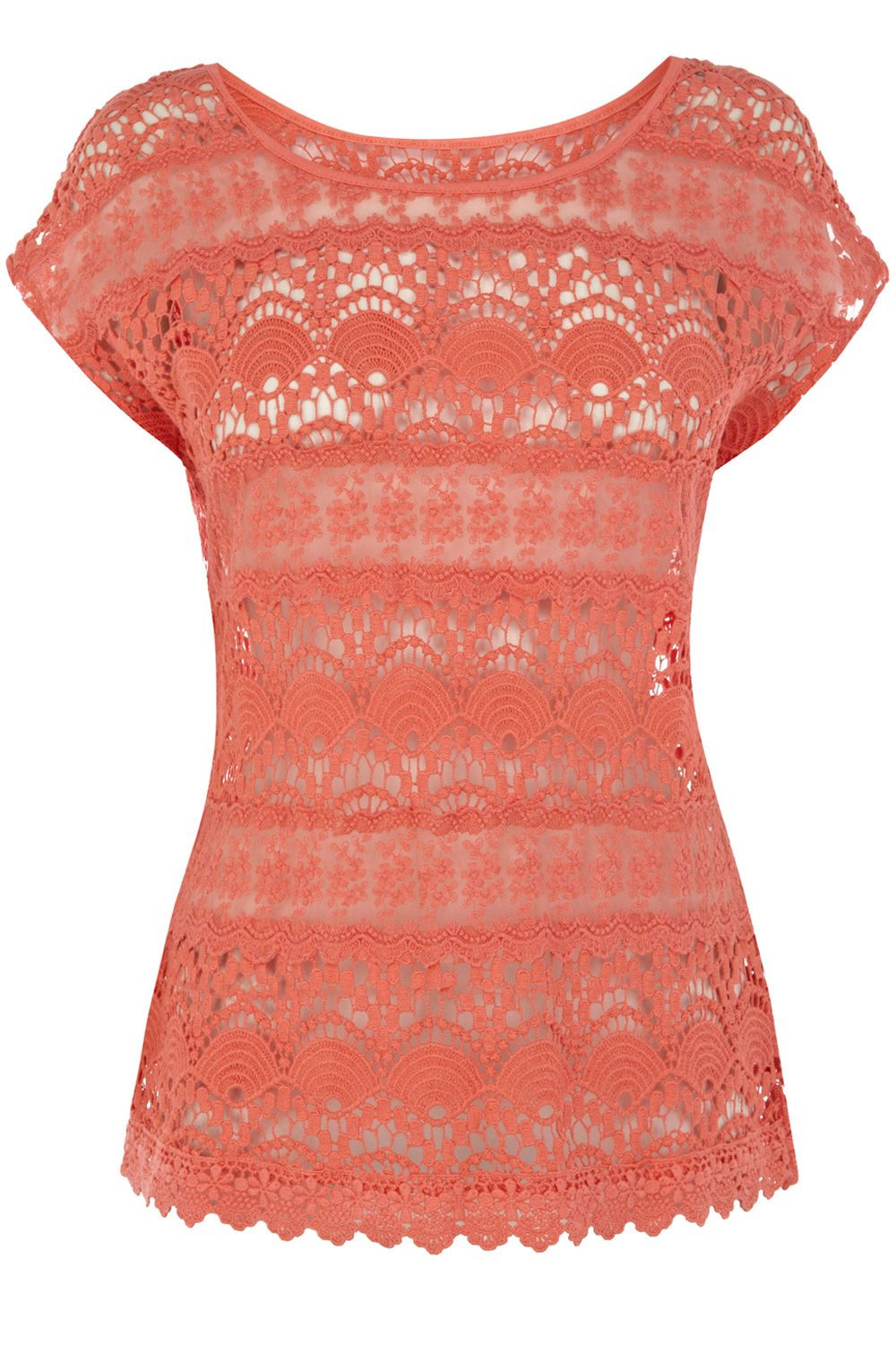 Inspirational Oasis Crochet Lace T Shirt In Pink Coral Crochet Shirts Of Brilliant 43 Ideas Crochet Shirts