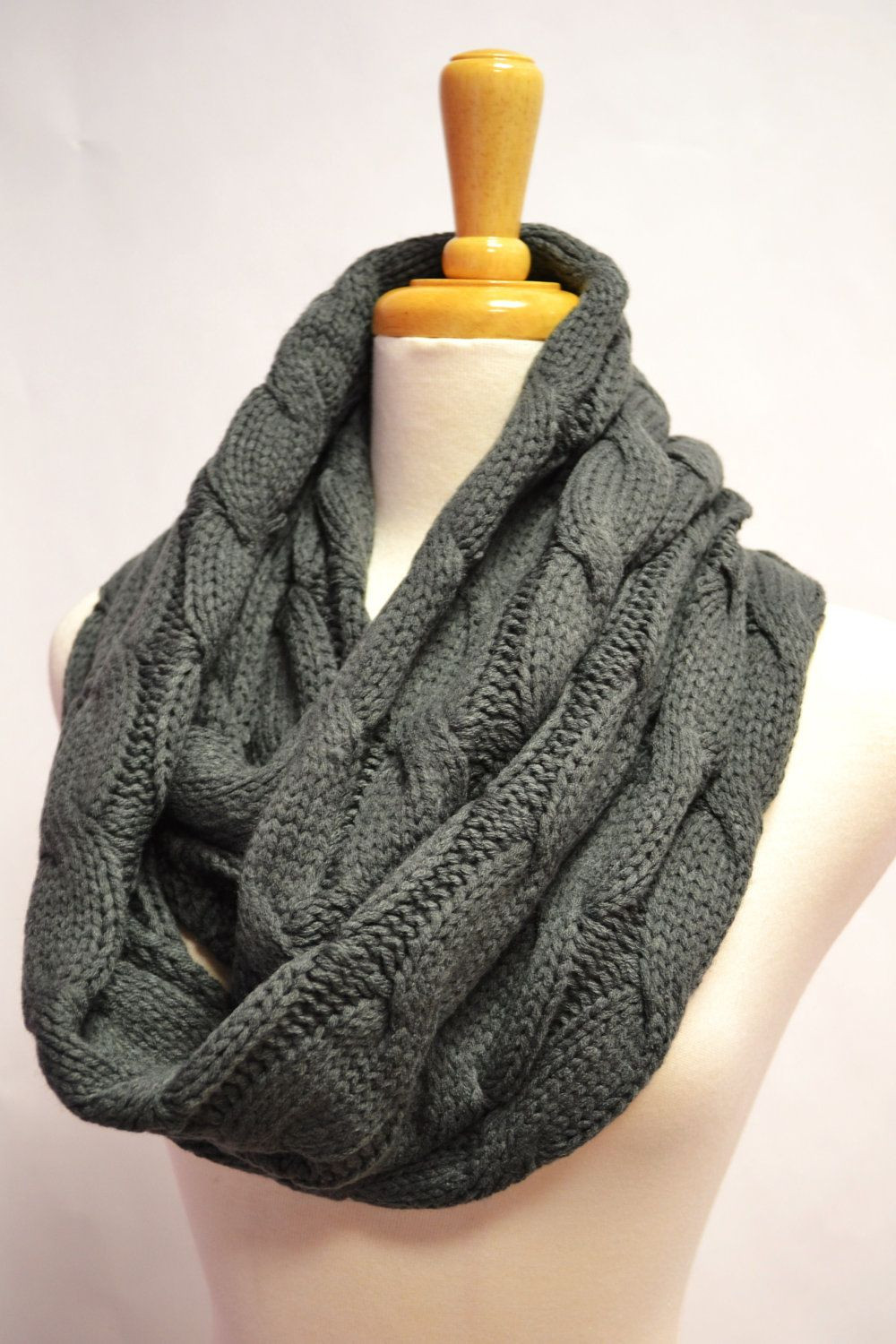 Inspirational Oatmeal Ivory F White Chunky Knitted Loop Infinity Cable Scarf Of Innovative 49 Ideas Cable Scarf