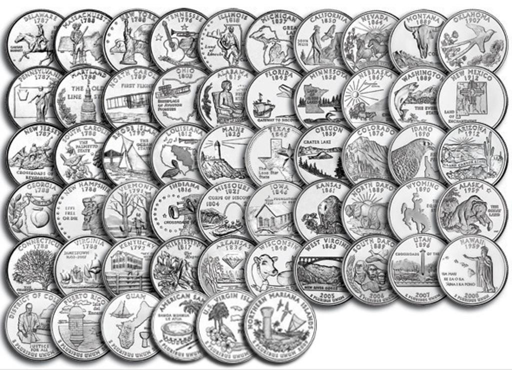 Inspirational Opinions On 50 State Quarters Us State Quarter Collection Of Charming 49 Ideas Us State Quarter Collection