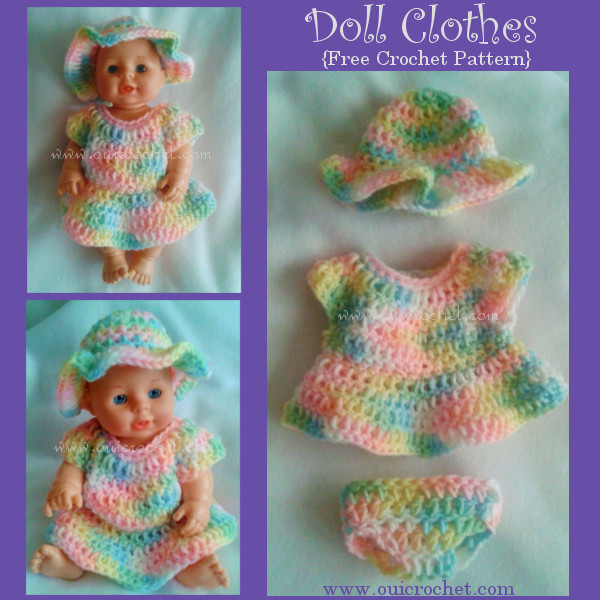 Inspirational Oui Crochet Doll Clothes Free Crochet Pattern Free Crochet Doll Dress Patterns Of Top 50 Photos Free Crochet Doll Dress Patterns