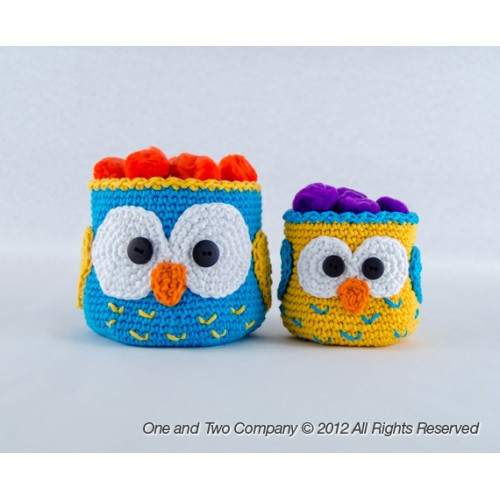 Inspirational Owl Baskets 2 Sizes Crochet Pattern Crochet Owl Basket Of Brilliant 47 Photos Crochet Owl Basket