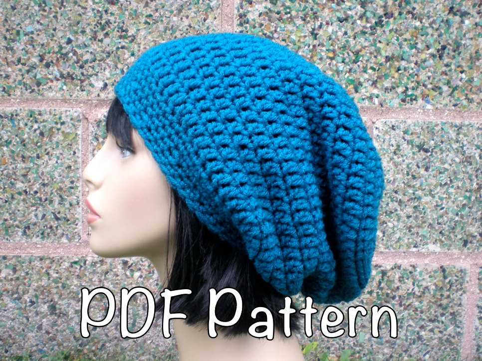 Inspirational Pattern Autumn Slouch Uni Slouchy Beanie Hat P D F Simple Beanie Crochet Pattern Of Innovative 50 Ideas Simple Beanie Crochet Pattern