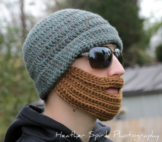 Pattern Directions for Making a Crochet Adult Bearded hat