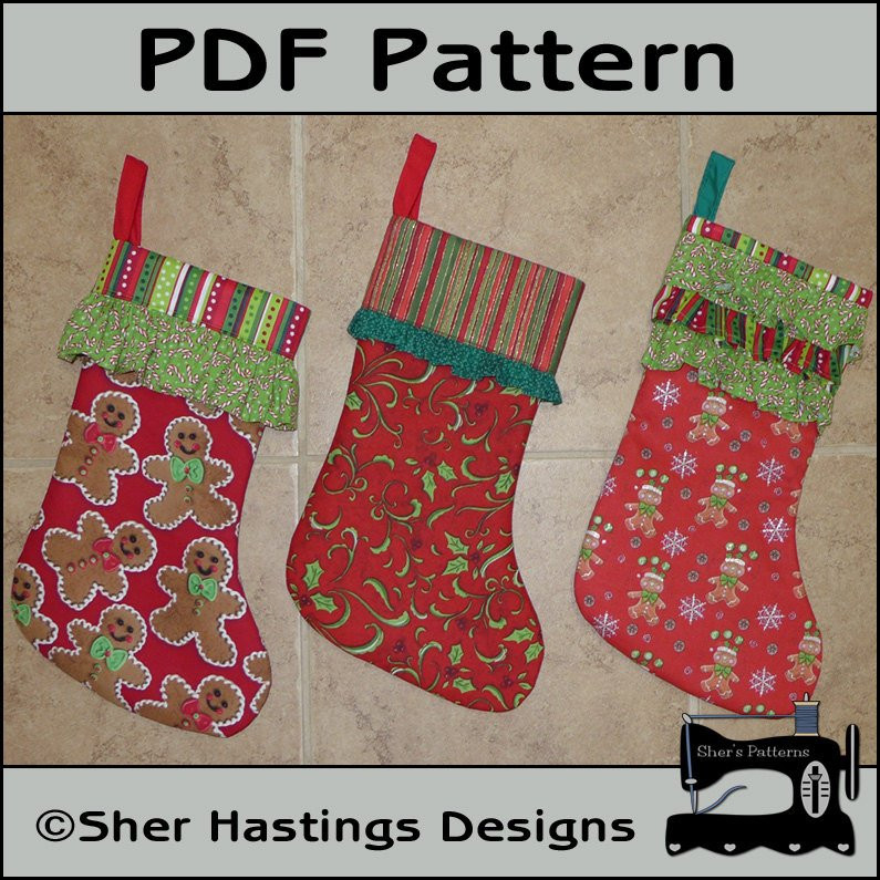 Inspirational Pdf Pattern for Christmas Stocking Ruffled Cuff Christmas Stocking Sewing Pattern Of Marvelous 44 Models Christmas Stocking Sewing Pattern