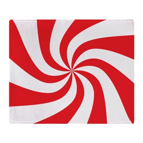Peppermint Candy Throw Blanket by expressivemind
