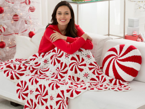 Inspirational Peppermint Throw and Pillow Red Heart Giveaway Peppermint Throw Of Great 46 Ideas Peppermint Throw