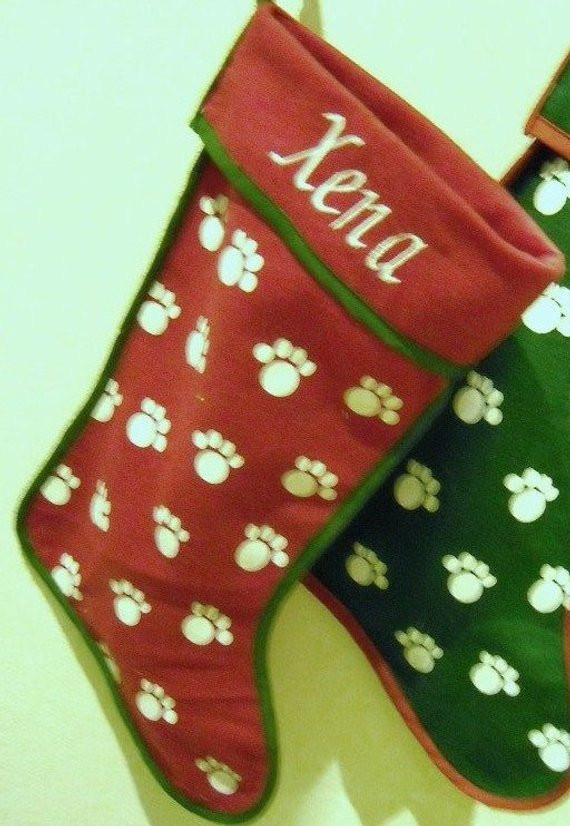 Inspirational Personalized Red Dog Paw Print Christmas Stocking Dog Paw Christmas Stocking Of Amazing 42 Ideas Dog Paw Christmas Stocking
