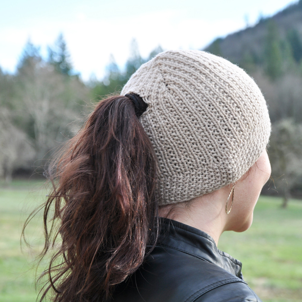 Inspirational Plant A Seed Ponytail Hat Downloadable Knit Pattern Free Knitting Pattern for Ponytail Hat Of Delightful 43 Models Free Knitting Pattern for Ponytail Hat