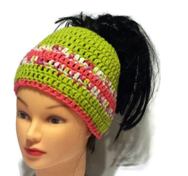 Inspirational Pony Tail Women Hat Ponytail Beanie Bun Hole Hat Crochet Beanie with Hole for Bun Of Great 40 Pics Beanie with Hole for Bun