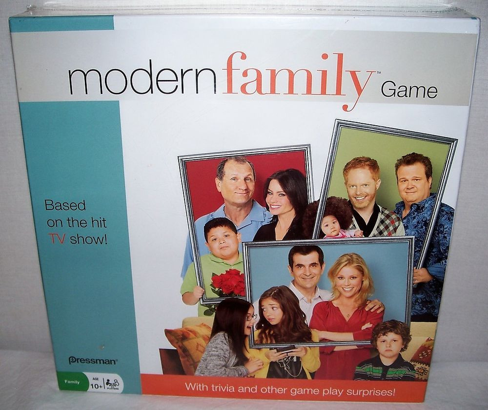 Pressman ©2011 MODERN FAMILY Board Game NEW