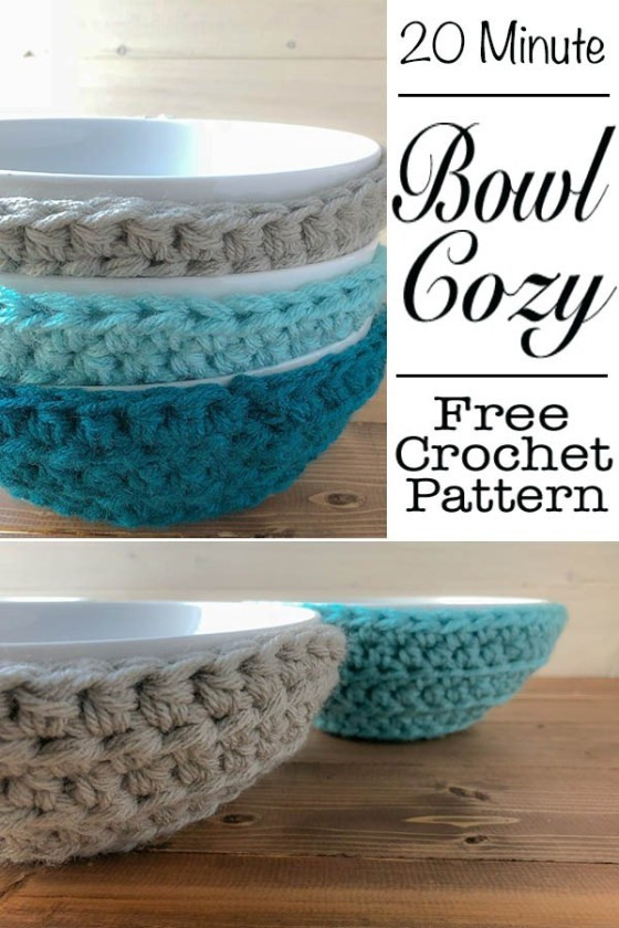 Inspirational Quick and Easy Crochet Bowl Cozies In 20 Minutes Crochet Bowl Cozy Of New 36 Images Crochet Bowl Cozy