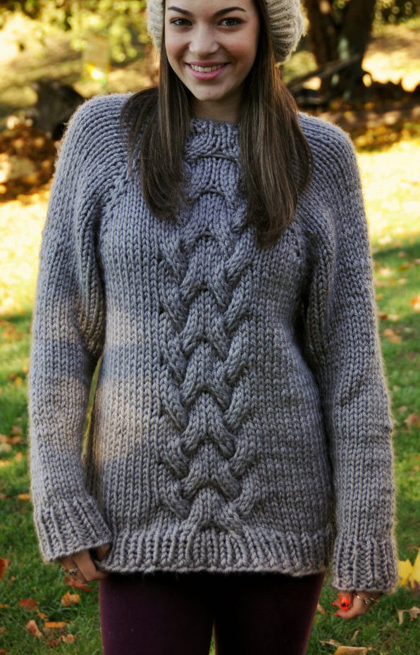 "Inspirational Quick Sweater Knitting Patterns Cable Knit Sweater Pattern Of New Lace & Cable Sweater Dk Wool 30"" 40"" Knitting Cable Knit Sweater Pattern"