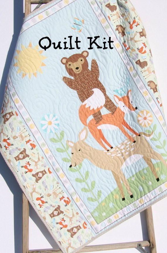 Inspirational Quilt Kit Flannel Baby Blanket Panel Quick Easy Woodland Baby Blanket Kits Of Delightful 48 Pictures Baby Blanket Kits