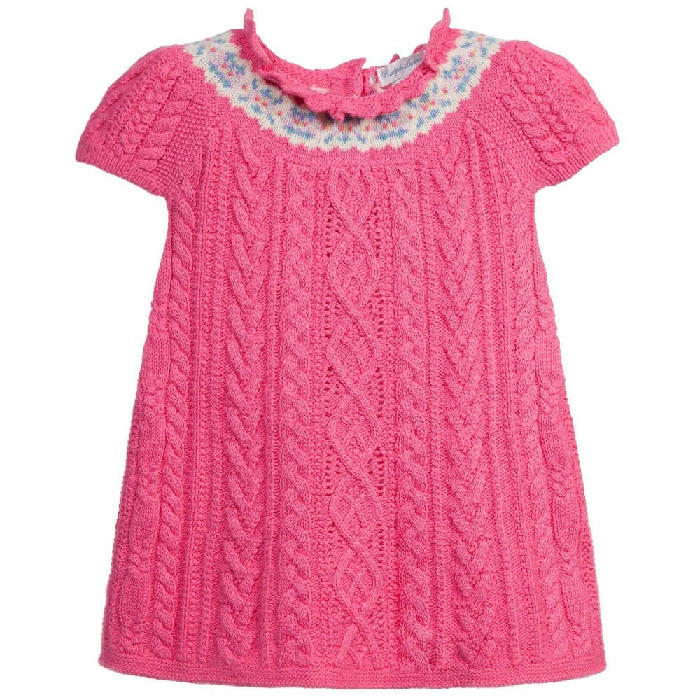 Inspirational Ralph Lauren Baby Girls Pink Knitted Dress Children Boutique Knitted Baby Dress Of Brilliant 49 Photos Knitted Baby Dress