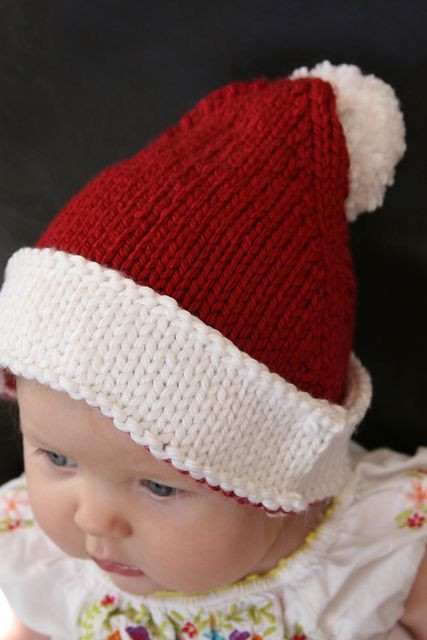 Inspirational Ravelry Santa Baby Hat Pattern by Erika Neitzke Free Knitted Christmas Hats Of Adorable 50 Models Knitted Christmas Hats