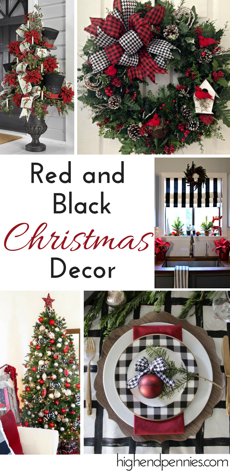 Inspirational Red & Black Christmas Decor Red Christmas Decorations Of Fresh 42 Images Red Christmas Decorations