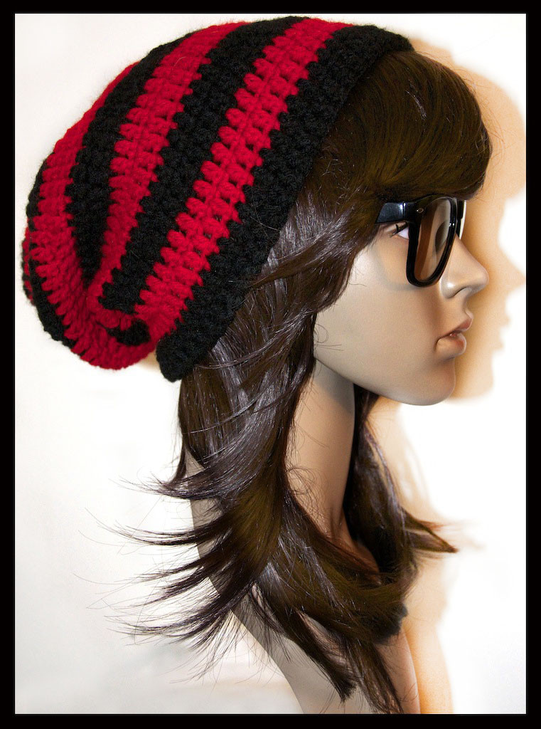 Inspirational Red and Black Striped Slouchy Beanie by Red Slouchy Beanie Of New 50 Models Red Slouchy Beanie