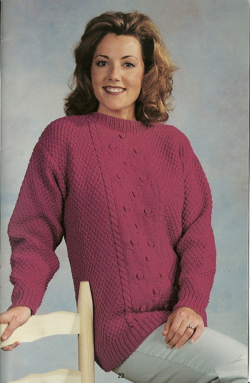 Red Heart Family Fashions To Knit Sweater Pattern Booklet