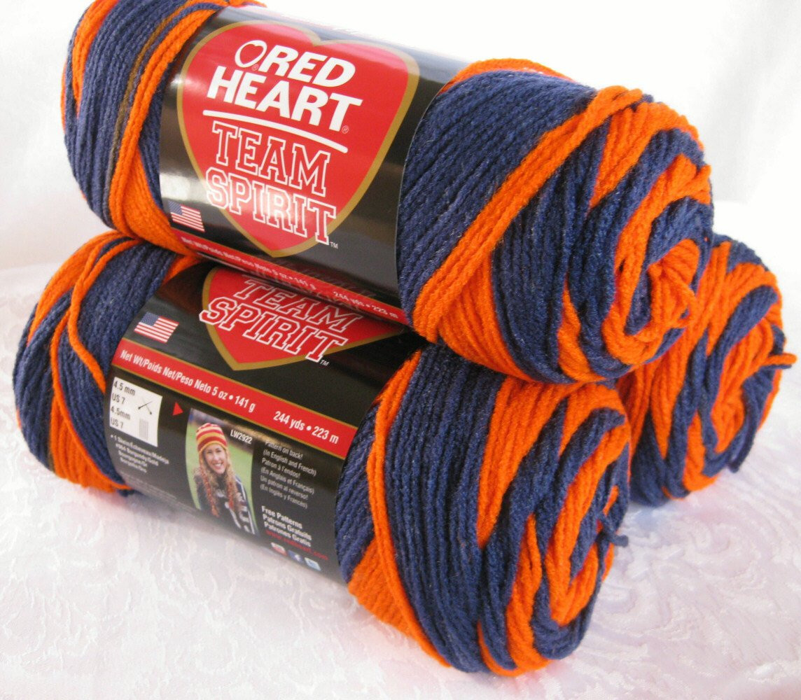 Inspirational Red Heart Super Saver Team Spirit Yarn orange Navy by Red Heart Team Spirit Yarn Of Top 46 Pics Red Heart Team Spirit Yarn
