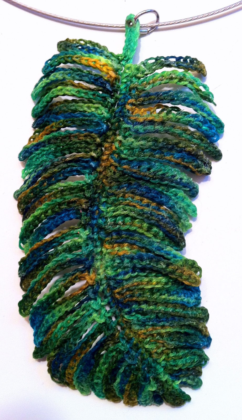 Inspirational Regina Rioux Crocheted Feather Pendants Crochet Peacock Feather Of Great 44 Models Crochet Peacock Feather