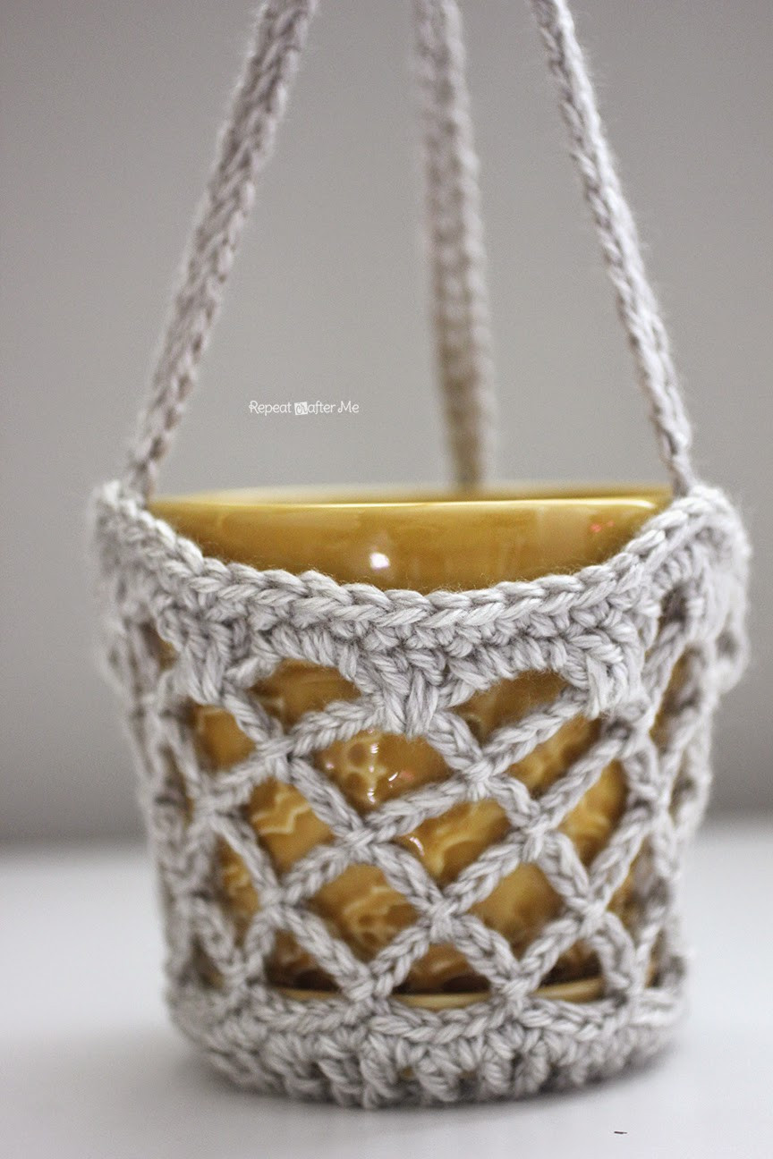 Inspirational Repeat Crafter Me Crochet Flower Pot Hanging Basket Crochet Hanging Basket Of Awesome 47 Photos Crochet Hanging Basket