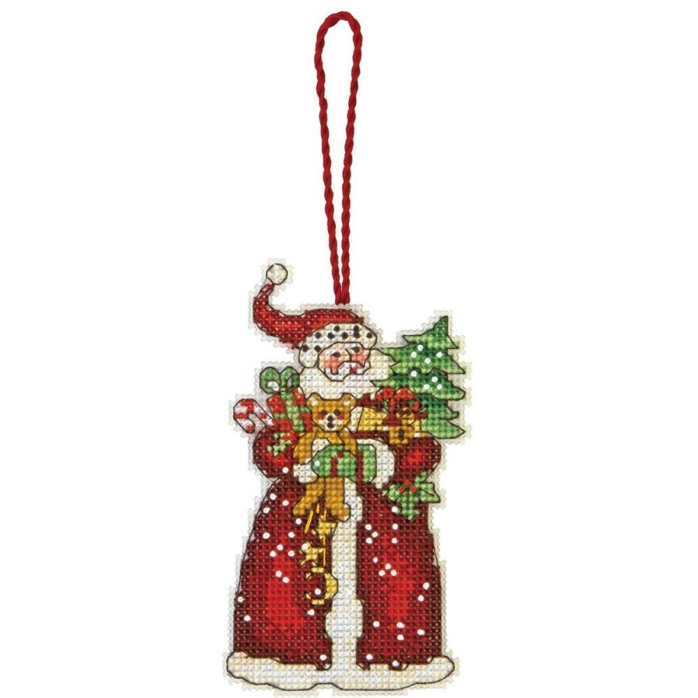 Inspirational Santa with Tree and Gifts Christmas Tree ornament Counted Cross Stitch Christmas ornament Kits Of Gorgeous 46 Models Cross Stitch Christmas ornament Kits