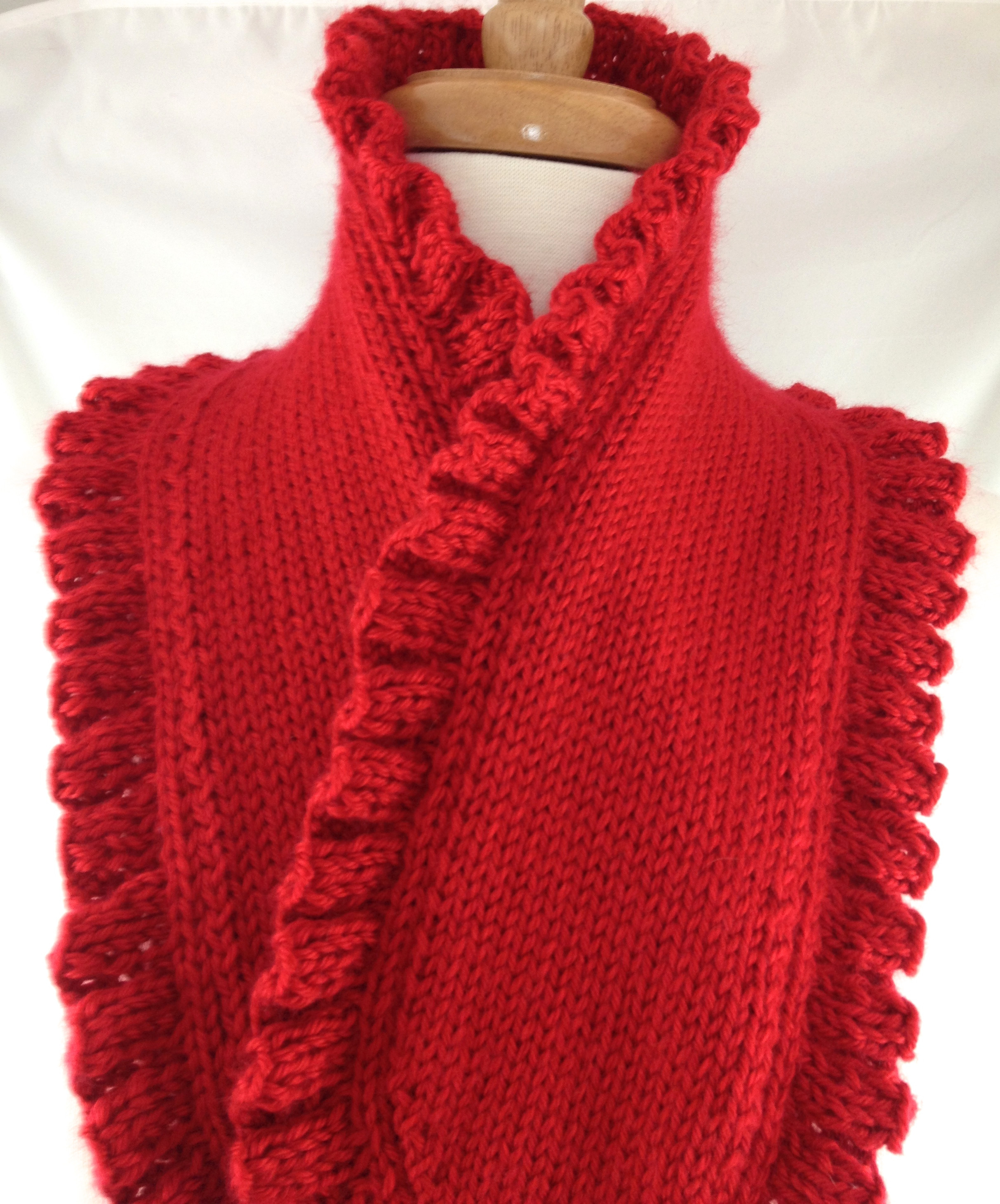 Inspirational Scarf Hand Knit Ruffle La S Elegant Red Victorian Style Ruffle Scarf Of Unique 50 Pics Ruffle Scarf