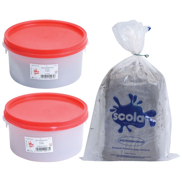 Scola Air Hardening Air Drying Clay Terracotta & Stone