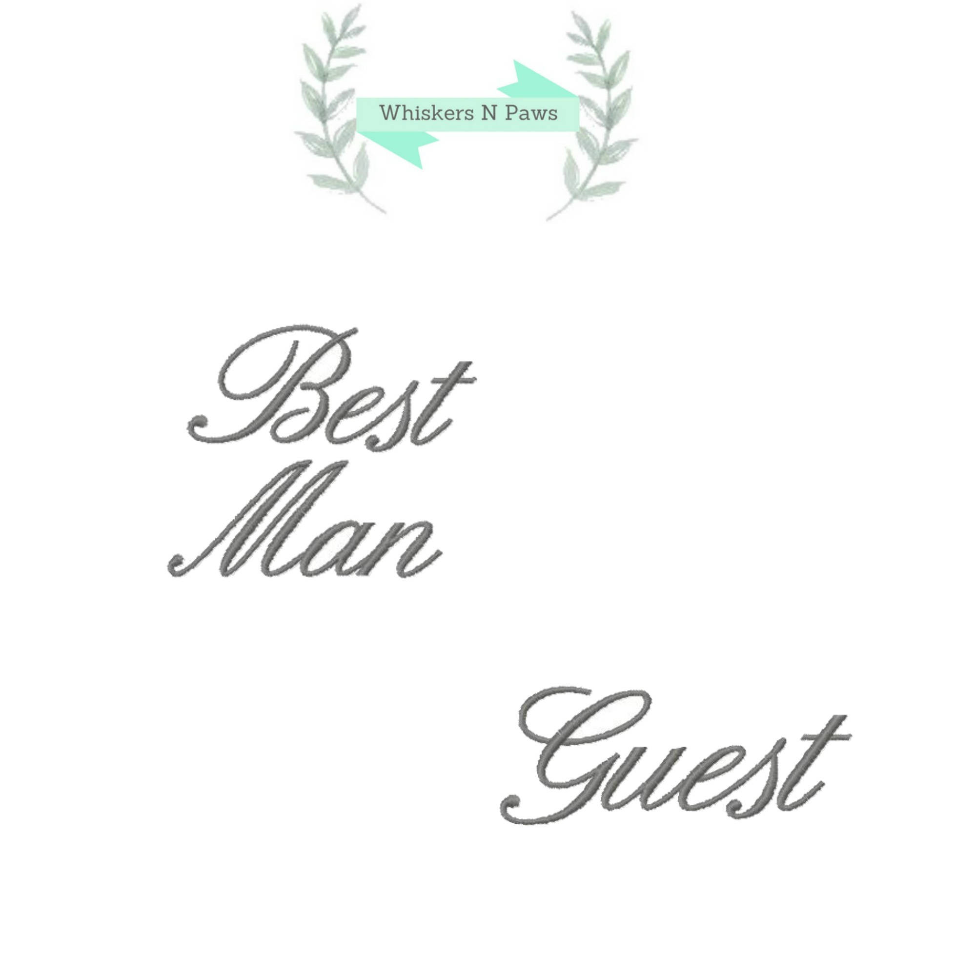 Set of 2 Wedding Bridal Party Embroidery Designs Best Man