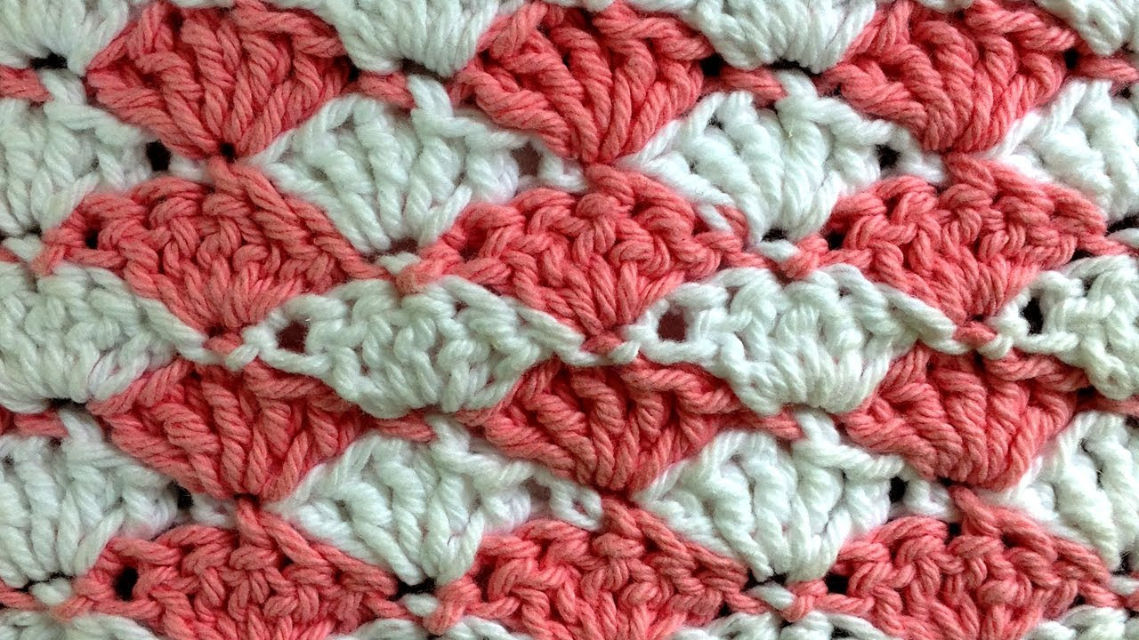 Inspirational Shell Crochet Stitch Change Color Every Row Pattern by Free Shell Crochet Pattern Of Charming 45 Pics Free Shell Crochet Pattern