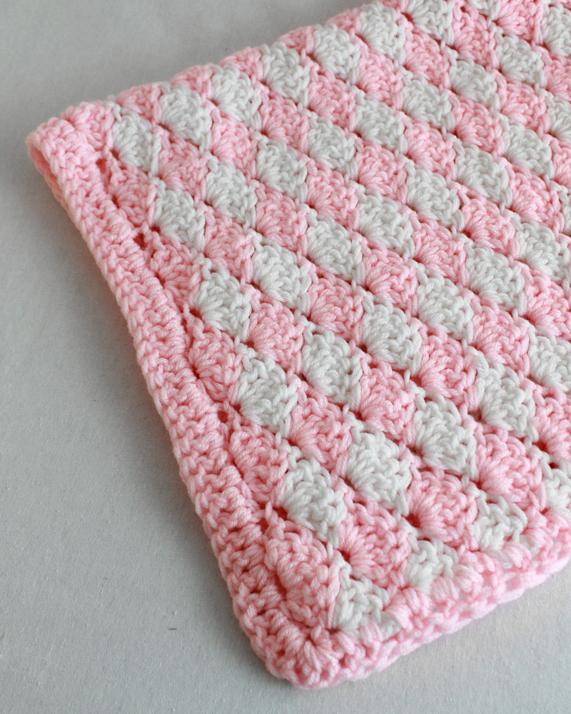 Shell Crochet Stitch Pattern & Video Change Color Every
