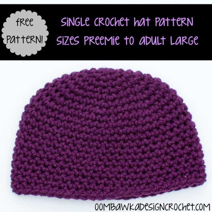 Inspirational Simple Single Crochet Hat Pattern • Oombawka Design Crochet Crochet Hat Patterns for Adults Of Fresh Give A Hoot Crocheted Hat Free Pattern for Kids and Adult Crochet Hat Patterns for Adults