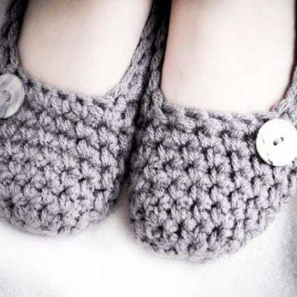 Inspirational Slippers Crochet Slippers and Crochet On Pinterest Easy Crochet Slippers Free Pattern Of Perfect 46 Photos Easy Crochet Slippers Free Pattern
