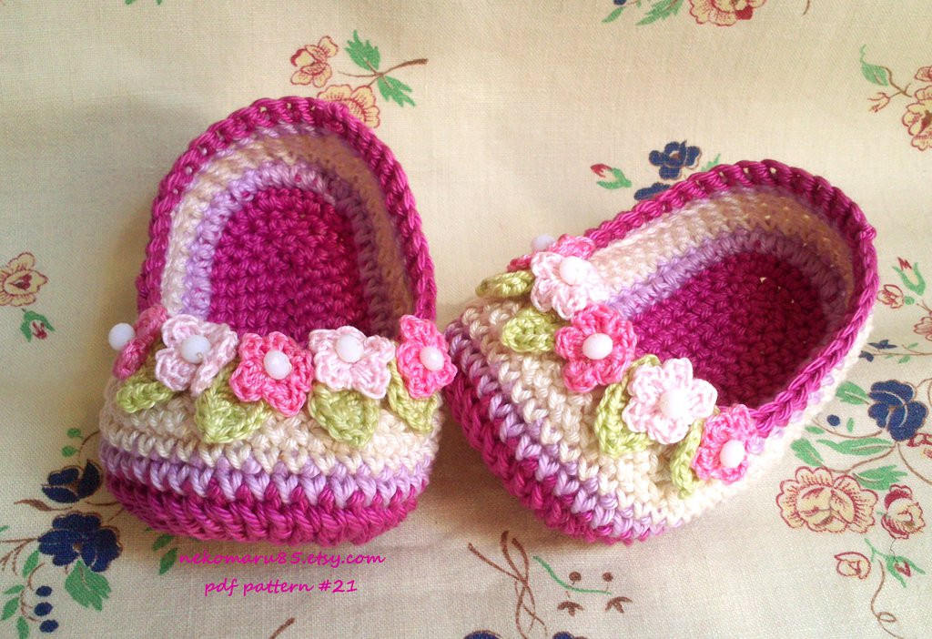 Inspirational Slippers Crochet with Wreath for Baby by Nekomaru85 On Crochet Baby Stuff Of Superb 43 Models Crochet Baby Stuff
