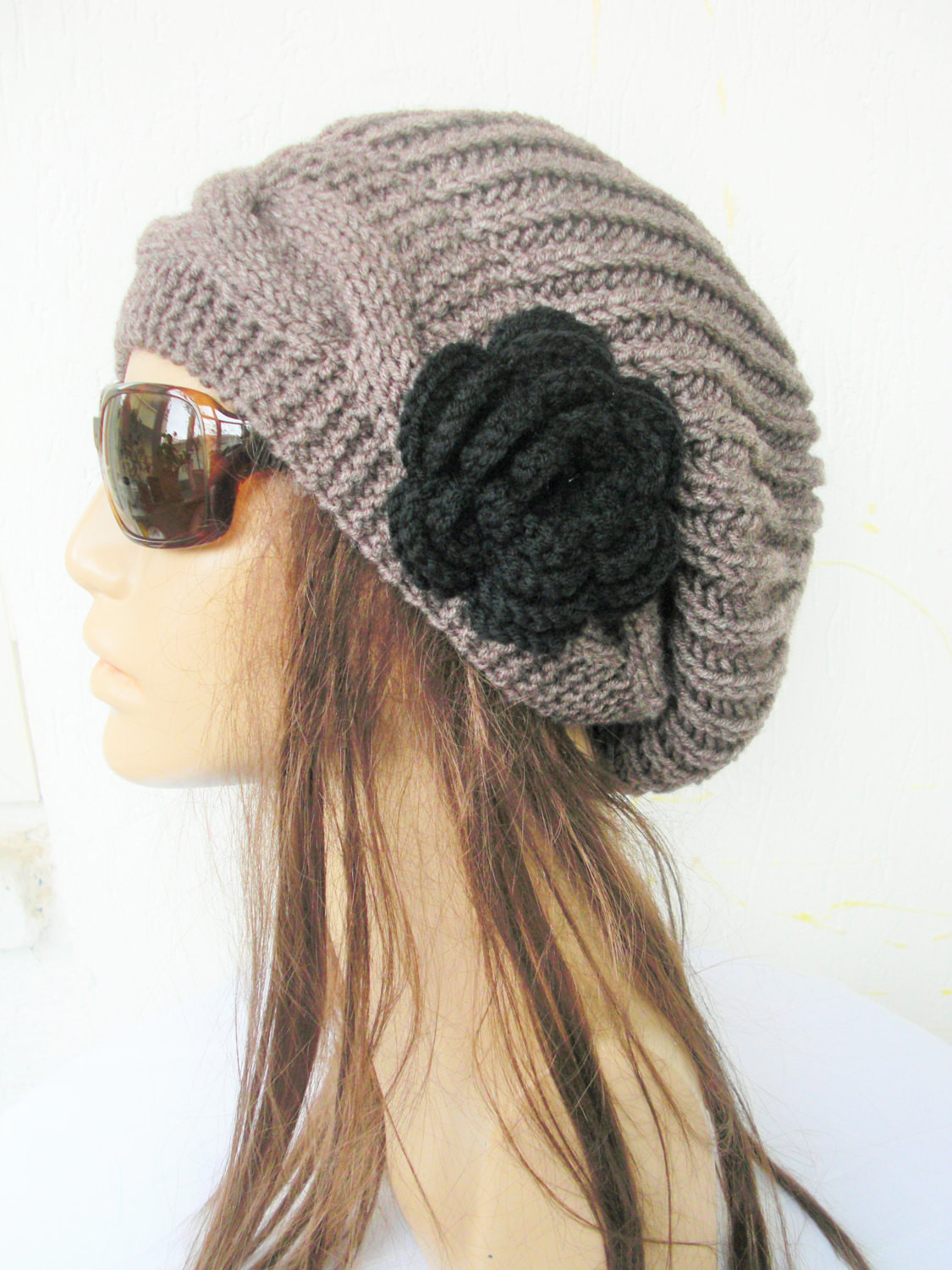 Inspirational Slouchy Hat with Flower Winter Taupe Slouchy Beanie Women Slouchy Winter Hat Of Top 47 Models Slouchy Winter Hat