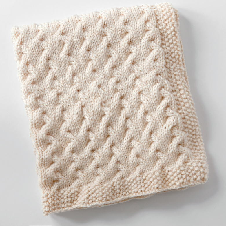 Snuggly Cables Baby Blanket