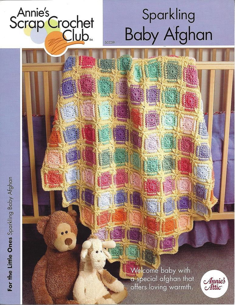 Inspirational Sparkling Baby Afghan Annie S Scrap Crochet Club Crochet Club Of Great 43 Models Crochet Club