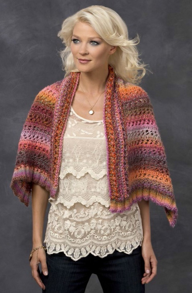 sunset wrap in red heart boutique treasure lw3297