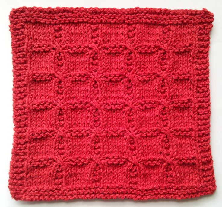 Swish with a Twist knitted washcloth pattern