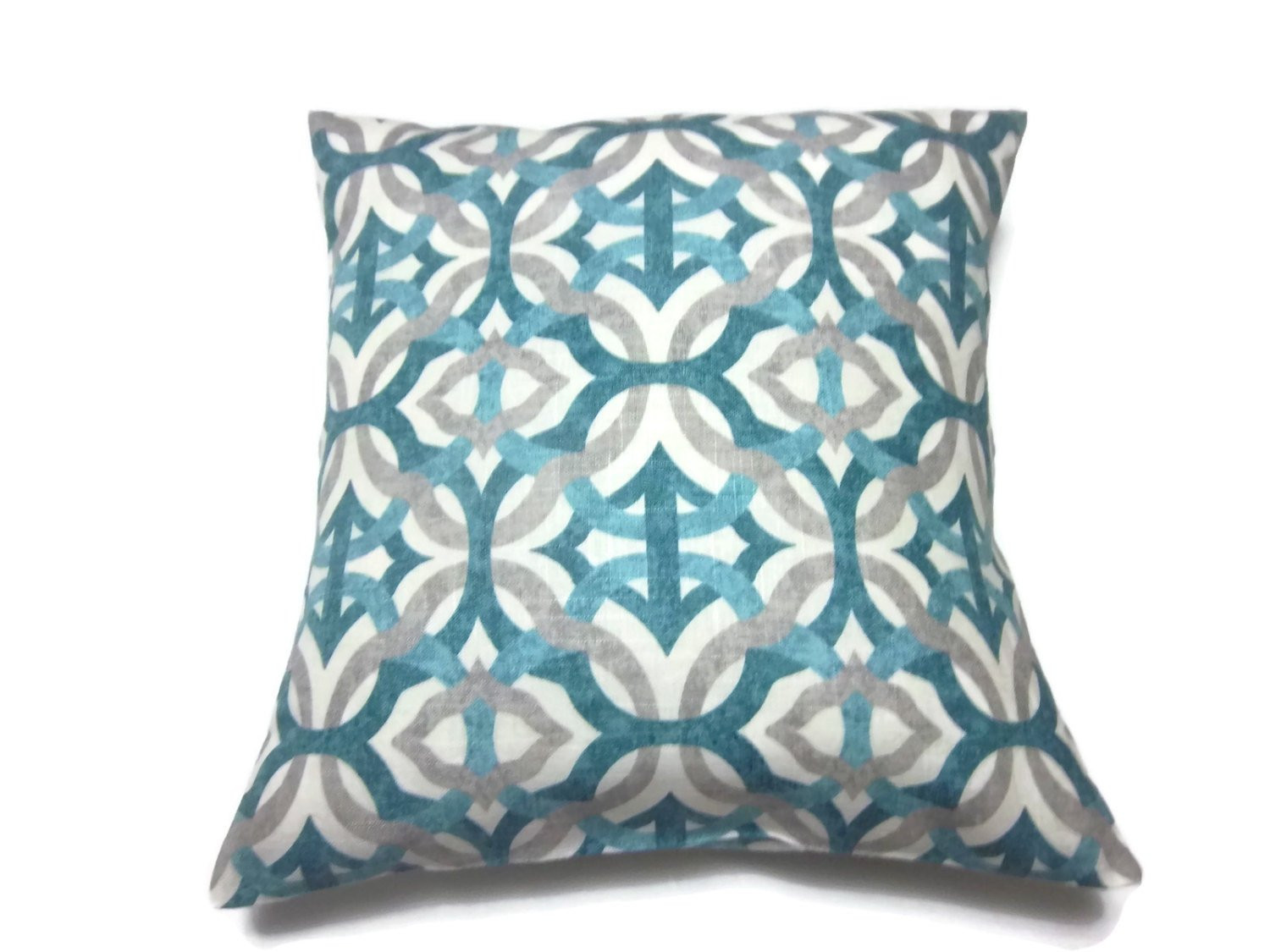 Teal And Gray Decorative Pillows home decor Takcop