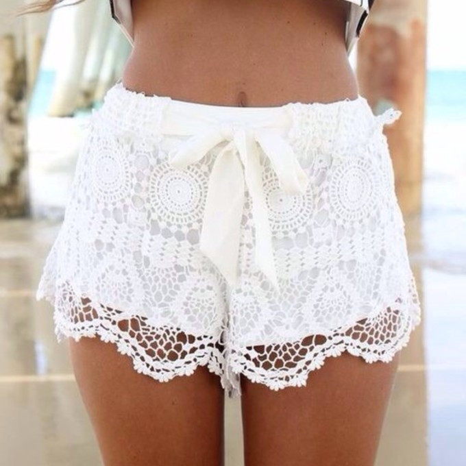 The best lace shorts tan Whereto