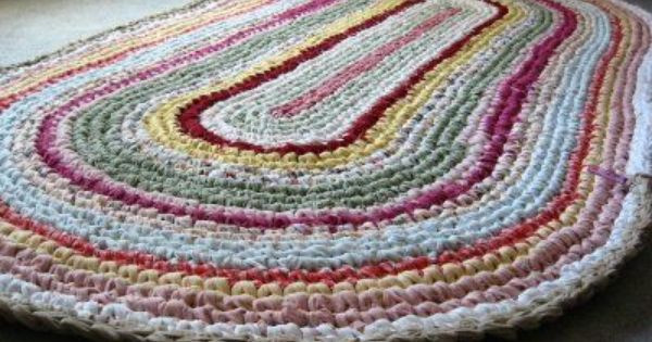 Inspirational the Most Popular Items to Crochet with Fabric Strips are Crochet Rug with Fabric Strips Of Lovely Goat Feathers Crochet Rug and Purse Crochet Rug with Fabric Strips