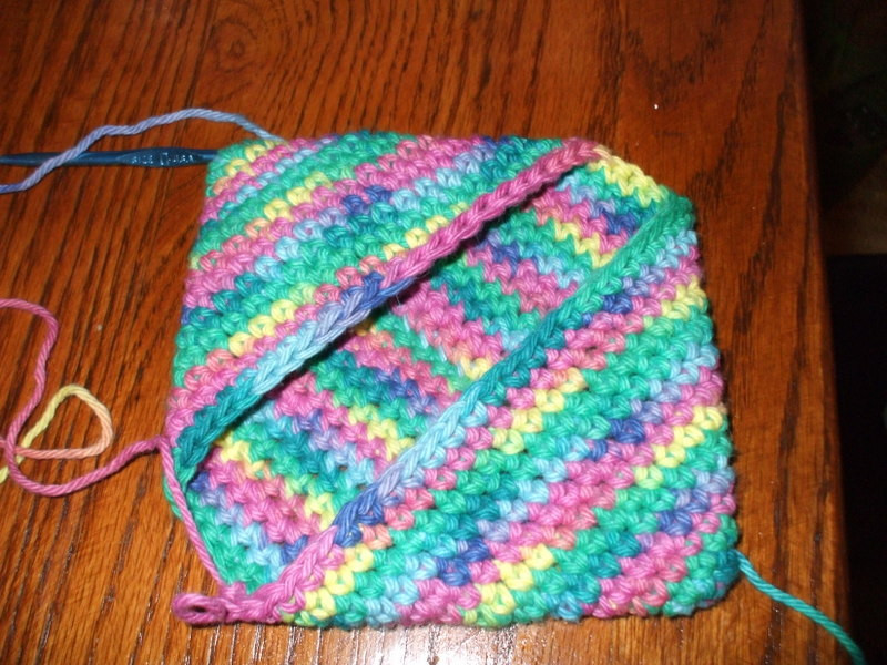 The treasures of my heart Crochet magic square pot holder