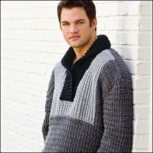 Inspirational the Tuxedo Front Pullover is A Kim Kotary Crochet Sweater Crochet Mens Sweater Of Attractive 49 Pictures Crochet Mens Sweater